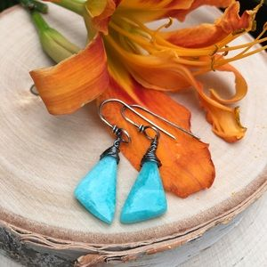 Jewelry - Amazonite and Sterling Earrings